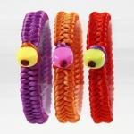 Браслеты-фенечки из атласных шнуров