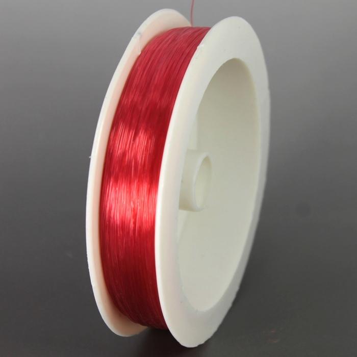 Леска мононить для бисера Gamma 0.3мм красная 100м.