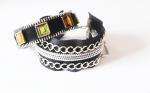Стильные браслеты из швейных молний