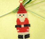 Новогоднее елочное украшение из бисера и бусин своими руками