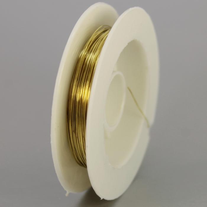 Проволока для бисероплетения Gamma толщиной 0.3 мм цвета под латунь. .  В зависимости от толщины используется для...