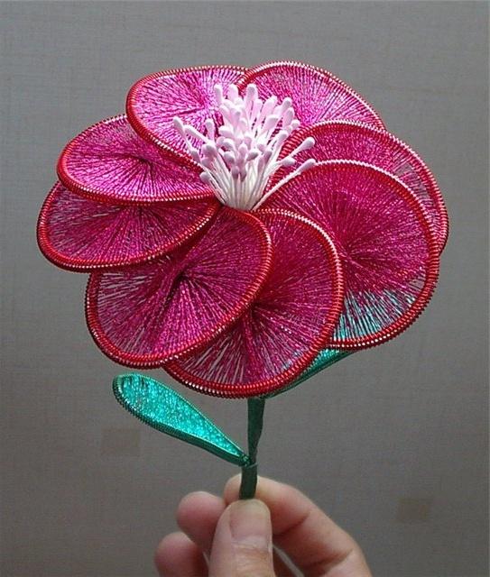 Цветок в технике ганутель мастер класс