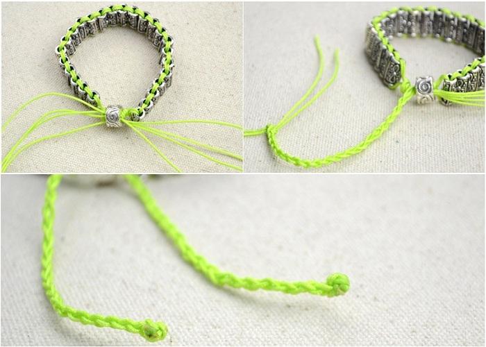 Плетеный браслет своими руками фото