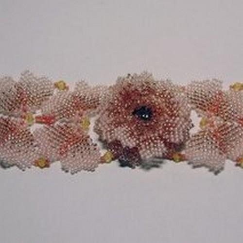 Плетение бисером цветок из лески